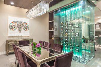 Modern Las Vegas Interior Design, Wine Room – 2015