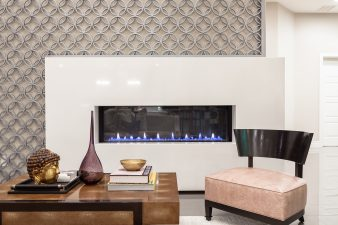 Las Vegas Interior Design, Modern Fireplace – 2015