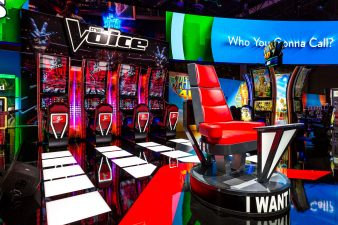 The Voice Slots at IGT's Booth at G2E 2016 Las Vegas