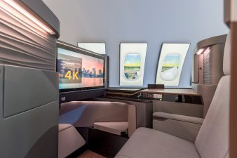 Panasonic First-class Airline Cabin Display at CES 2016 Las Vegas