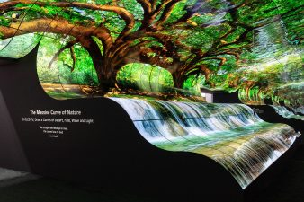 CES 2019 LG Exhibit Curved Video Wall